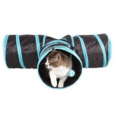 New Cat Tunnel 3 Way Collapsible Kitten Rabbit Play Tube Pet Funny Activity Toys