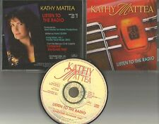 KATHY MATTEA Listen to the Radio w/ LETTER PROMO Radio DJ CD Single 1993 USA