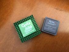 Cyrix Cx486DRx2 33/66 386 to 486 Upgrade CPU + Fasmath CX-83D87-33 Coprocessor