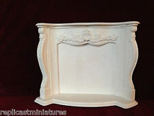 MN01 Louis Fire Surround e focolare-GESSO-replicast Miniatures DOLLS HOUSE