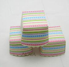Colorful dot stripes square muffin cases baking cup cupcake 20pcs 4.5x4.5x4.5cm