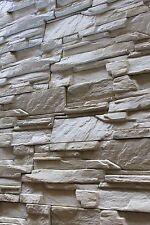 Klinker, Riemchen,  Verblender, Deko-Stein, Fassade -Felsen in Creme