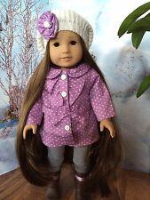 "OOAK American girl custom 18""Asian doll dark Kanani Z Yang Brown Long Hair"