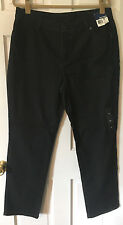 Womens Size 14 Basic Editions Dark Black Straight Leg Denim Jeans-New with Tags!