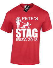 STAG DO T-SHIRTS TEE FOR MENS PERSONALISED CUSTOM DESIGNS PARTY UNISEX (D-2)