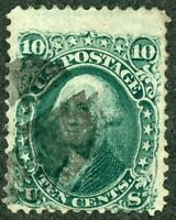 U.S.A. #96 Yellow Green 10 Cent Washington Used Cat $225