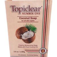 Topiclear Coconut Oil Moisturizing Soap Jabon Humectante de Aceite de Coco