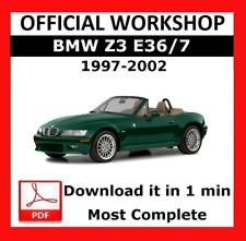 >> OFFICIAL WORKSHOP Manual Service Repair BMW Series Z3 E36/7 1997 - 2002