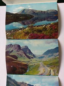 Scotland Vintage colour Lettercard c1970s incl Glen Coe, Lochs Leven &Triochtan