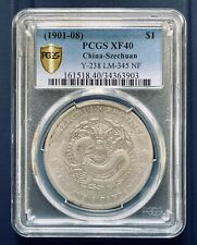 1901-08 China Szechuan Silver Dollar Coin  $1 PCGS XF40 Y-238 LM-345 NF