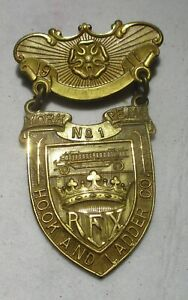 Hook and Ladder Company No.1 medal badge