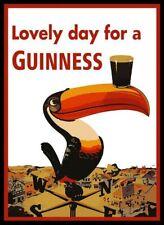 Guinness Toucan Metal Plaque, Retro Bar Sign, American Diner, Man Cave, Pub