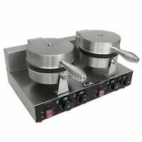 Piastra Doppia per Waffle e Cialde Belga Professionale Antiaderente 220V 1000W