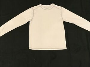 NEW First Wave Boys Size 14 White Long Sleeve Rash Guard/ Swim Shirt