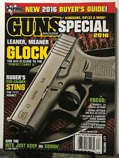 Guns Magazine Special Glock Ruger Hornet S&W Fall/Winter 2016 FREE SHIPPING JB