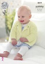 King Cole Strick Muster Strickjacken und Baby Decke 4819 Grob Lecker