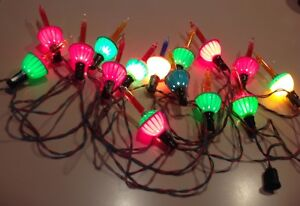 Vintage Long String of Bubble Lights including a Blue One-Bakelite & Clips Cord!