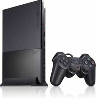 Authentic Refurbished Sony PlayStation 2 Slim (Black) w/Controller, Cords