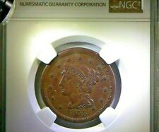 1855 Upright 55 - Braided Hair Large Cent NGC XF Details