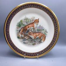 1974 Lenox - Boehm Red Foxes Woodland Wildlife Dinner Plate