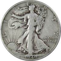 1940 S 50c Liberty Walking Silver Half Dollar US Coin VG Very Good