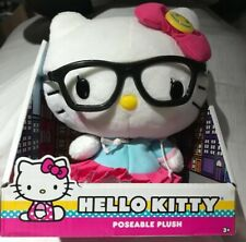 Hello Kitty with Glasses - Poseable Plush