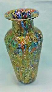 Vase mit Murrina von La Fornasotta von Urban Gabriele. Unikat (fo-vaso-spillo-1)
