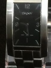 dkny watch men Beautiful Design Dark Grey Face Silver Dail Stainless Steel Band