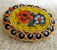 Vintage Italian Mosaic Finely made Glass Brooch