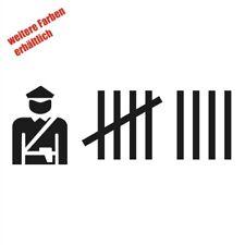 """Aufkleber """"Polizei Strichliste"""" Sticker Decal Folie Tuning"""