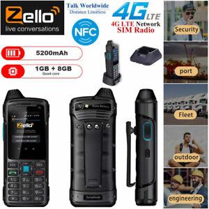 4G LTE Rugged Smartphone Zello Walkie Talkie PTT Network POC Radio NFC 5200mAh