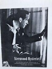Big Sleep Humphrey Bogart Lauren Bacall Danish program 1946 film noir