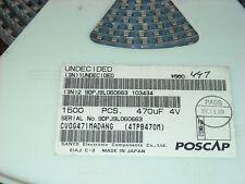 470uF/4V Tant Cap Size D 4TPB470M (CV0G471MADANG),50pcs