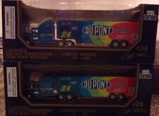 Lot of 2 ~ 1995 Racing Champions 1:64 Jeff Gordon Transporter Coin Banks w/ Key