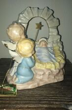 Vtg Josef Baby Jesus And Angels w/ Hang Tag & Sticker Music Box Figurine
