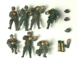 1:32 Unimax Toys Forces of Valor WWII 7 Figures (Customized for Diorama Display)