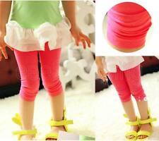 Lovely Kid Girls Baby Short Pants Stretch Skinny Leggings Trousers Tight Velvet
