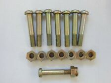 """8 x Aircraft Steel Bolts and Nuts, 10-32 UNF, Slotted Head, 1"""" Grip [GR3A-13]"""