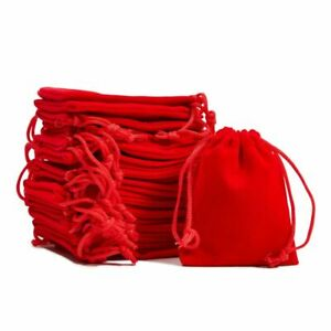 50 pcs Jewelry Pouch Small Velvet Drawstring Gift Bags Storage for Wedding Party