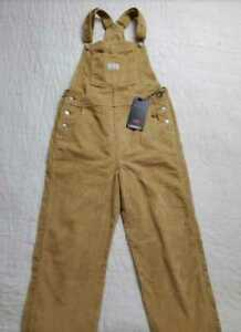 NEW WOMEN'S XS M LEVI'S VINTAGE OVERALLS IN ICED COFFEE CORDUROY
