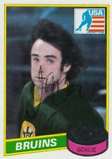 1980 USA OLYMPIC GOLD TEAM Jim Craig Topps Rookie SIGNED HOCKEY CARD AUTOGRAPHED
