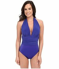 Magicsuit by Miraclesuit Solid Yves Soft Cup Twilight Blue One-Piece SIze 14 NWT