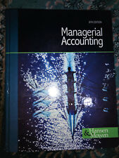 Managerial Accounting 8th ed by Hansen and Mowen - Hardcover