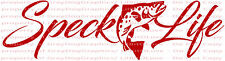 Speck Life Decal with Trout in Center Sticker Fishing Fisherman Spotted Sea Fish