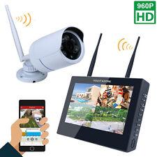 "10""TFT 4CH AHD DVR Security System Outdoor 960P CCTV IR Night Vision 1 Camera"