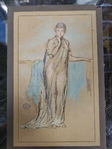 "James Abbott Whistler The Purple Cap in Pastel Engraved Print 10""x6.25"""