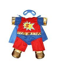 "Teddy Bear Superbear Outfit With Mask, fits 16"" teddy mountain and Build a Bear"