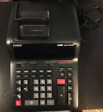 CASIO DR-210TM-BK Heavy Duty Electronic Printing Calculator TESTED WORKS