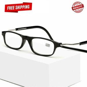 Click Magnetic Connect Reading Eyeglasses Full  Rim Glasses Folding 1.0 To 4.0
