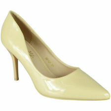 Womens Court Shoes Ladies Wedding High Pencil Stiletto Heel Party Pointy Toe Siz